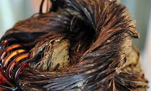 Маска для волос с голубой глиной для восстановления структуры