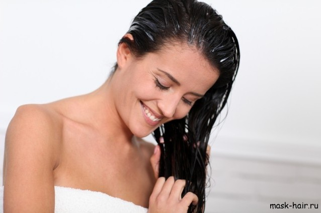 Маска против выпадения волос из майонеза