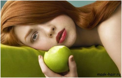 Маски для волос из сухих яблок