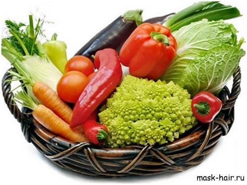 маски для волос из овощей