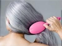 Уход за седыми волосами